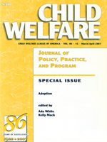 Adoption: A Special Issue of CWLA's Child Welfare Journal